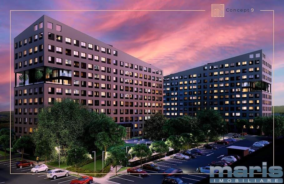 Apartamente noi cu 2 camere in CONCEPT 9 zona Mall - Tudor